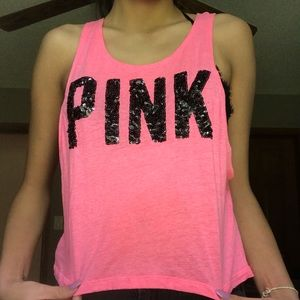 Super Cute PINK Muscle/Workout Tee